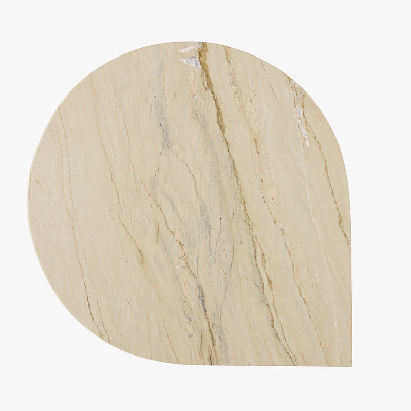 STILLA Side Table | White Marble