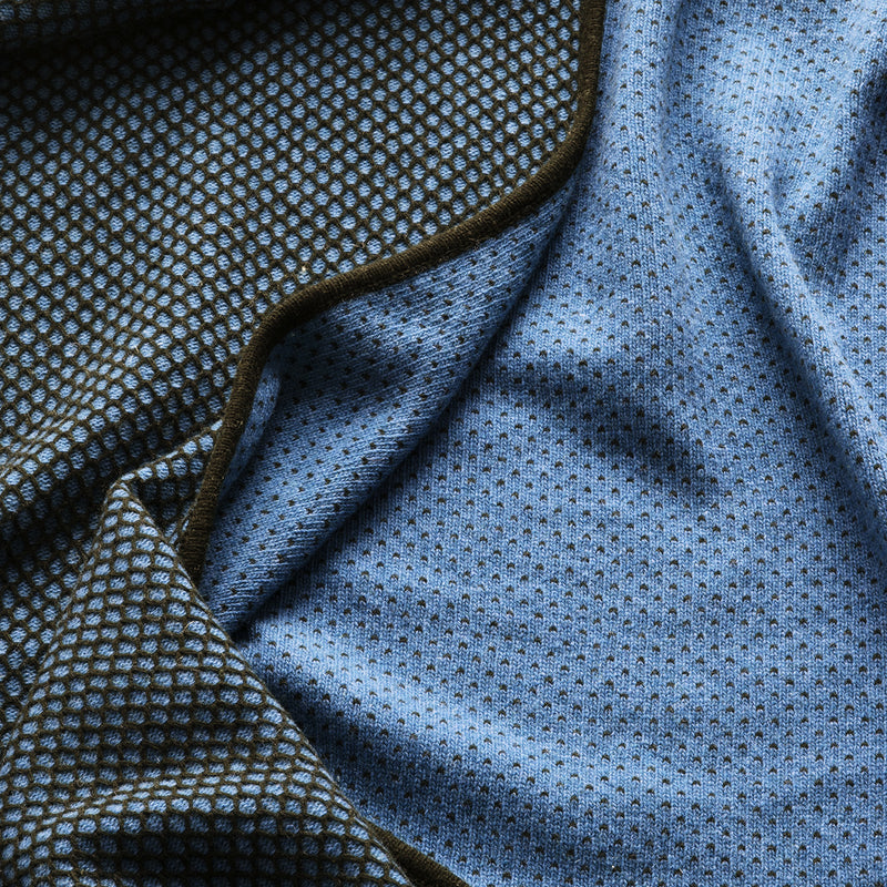 Sunday Throw Diamond | Black/Blue