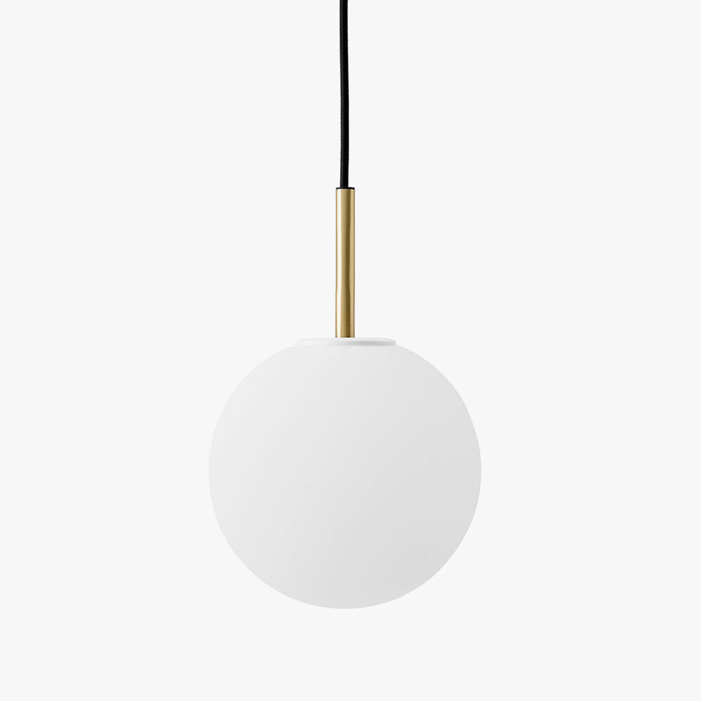 TR Bulb Pendant, Brushed Brass