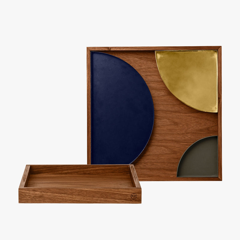 UNITY Quarter Circle Tray, Small - Forest