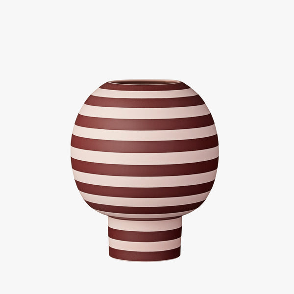 VARIA Sculptural Vase | Rose/Bordeaux