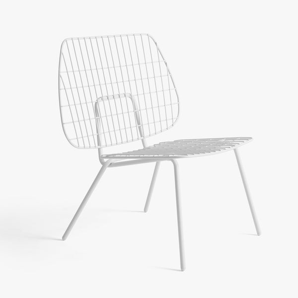 WM String Lounge Chair | White (2pc)