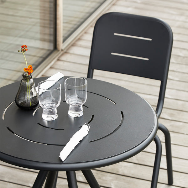 Ray Dining Table (Round) | Charcoal Black