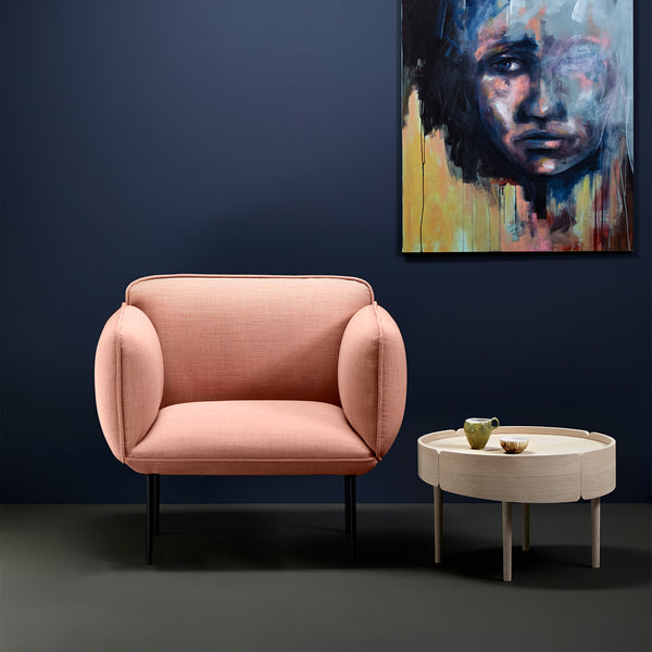 Nakki 1-Seater Chair | Dusty Pink
