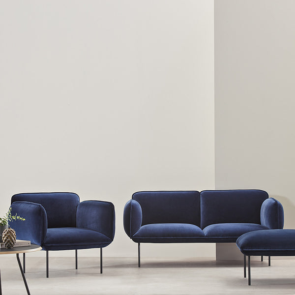 Nakki 2-Seater Sofa | Navy
