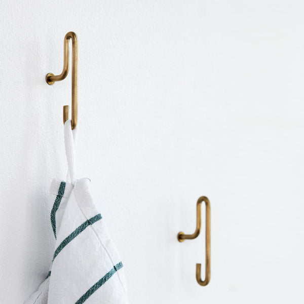 Wall Hook | Brass, Small (x2)