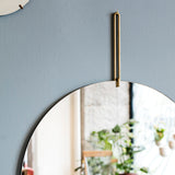 Wall Mirror Ø70 | Brass