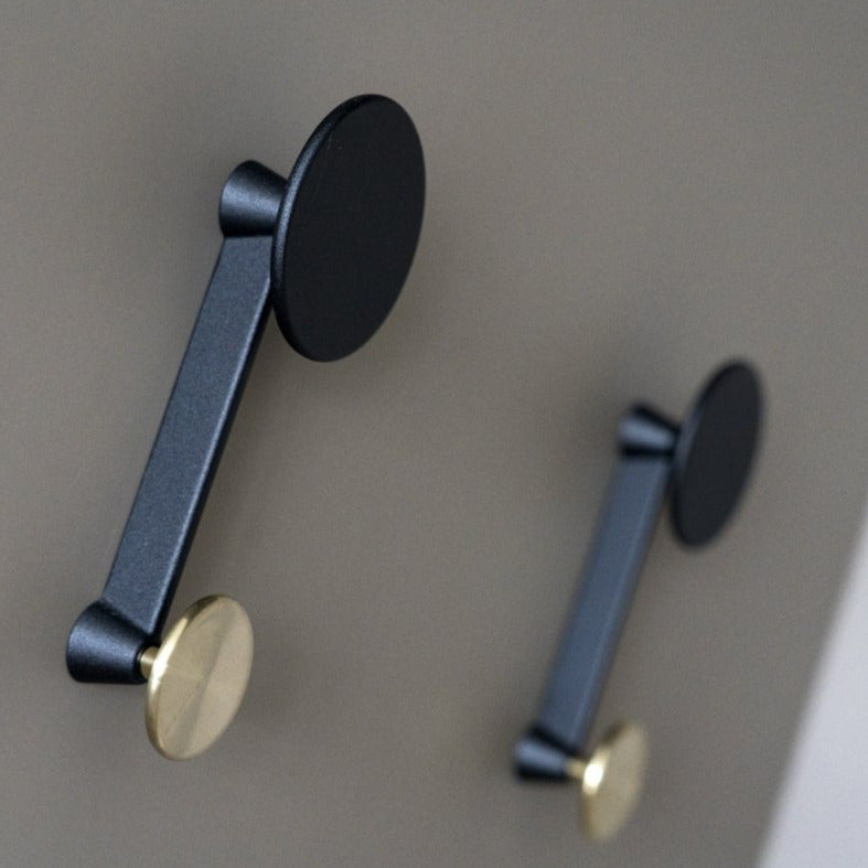 Afteroom Coat Hanger, Small | Black/Brass