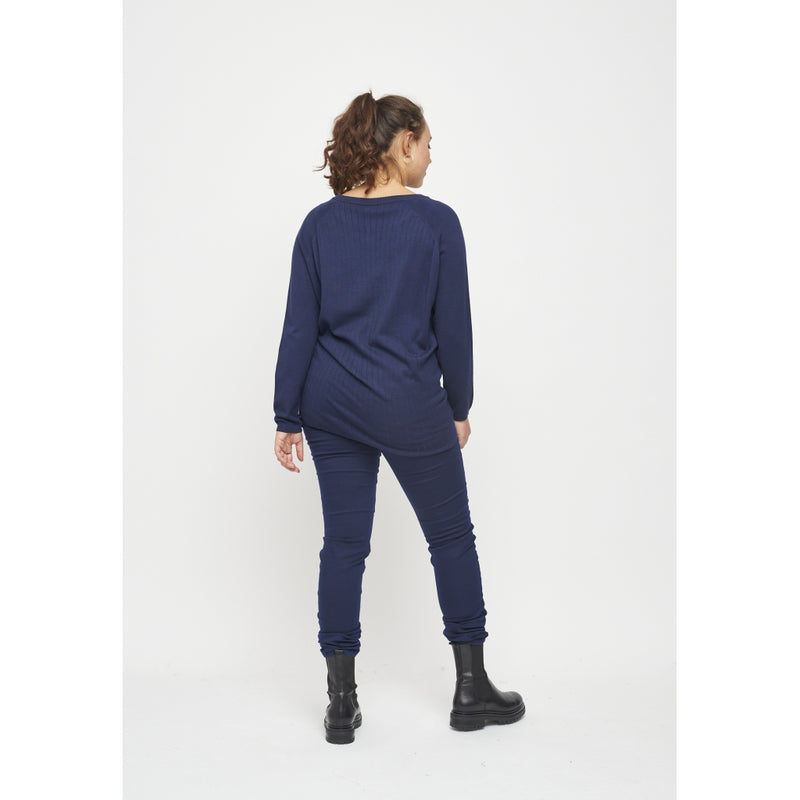 Adia Anika Striktrøje 4644 Midnight Navy