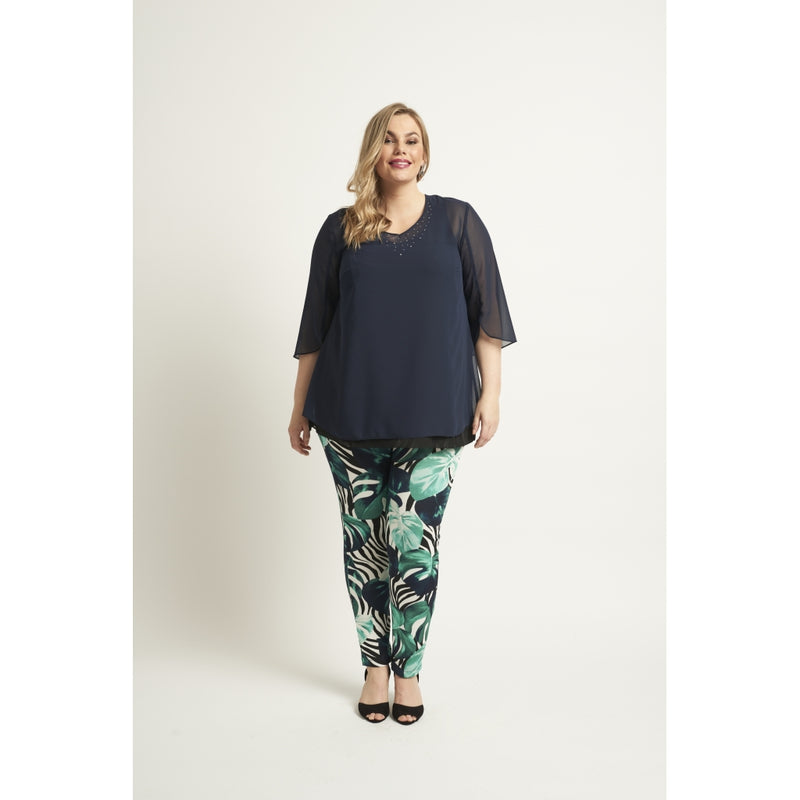 Sempre Piu Bernada Leggings 673 Lake Green