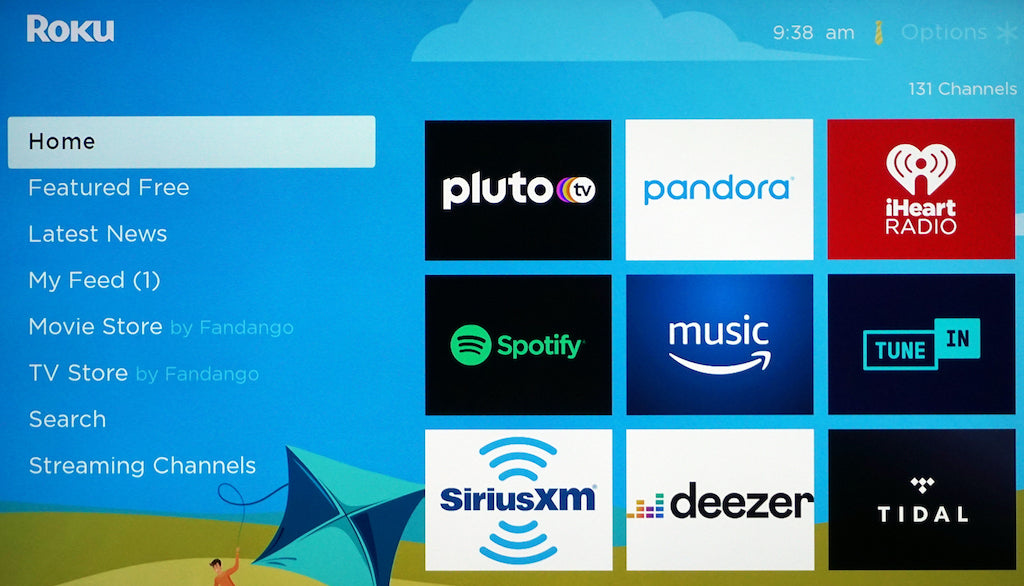 Play Music Apps From a Media Streamer to TV