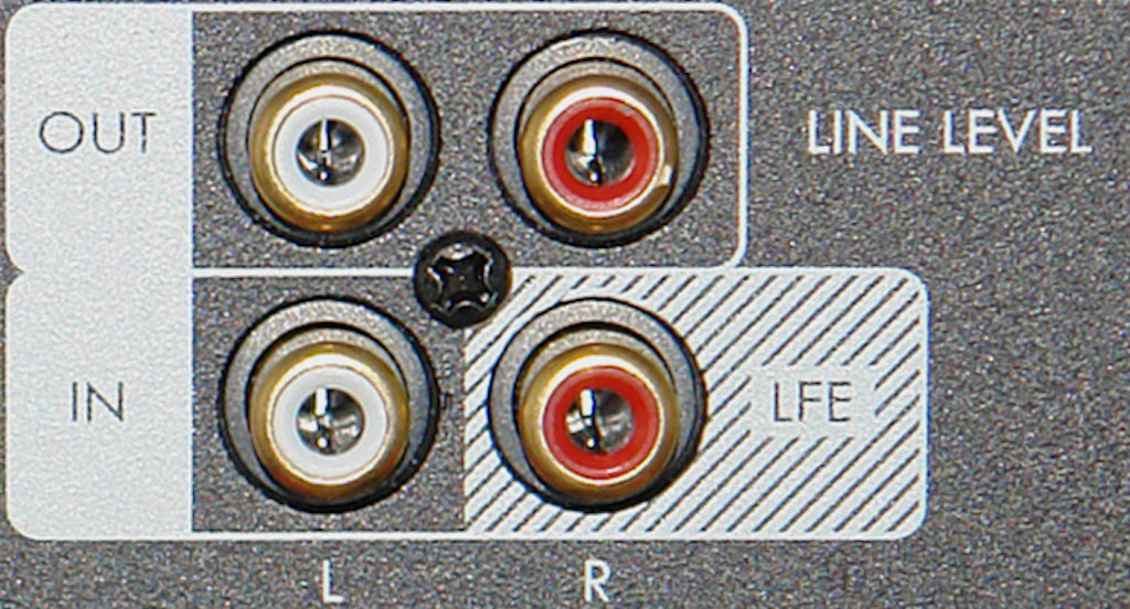 Subwoofer In/Out Line Connections – SVS SB1000 Example
