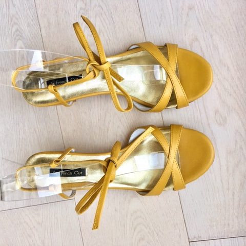 Spring Limited - Yellow Open toe Leather Sandals