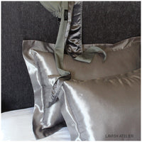 SILK PILLOWCASE x2 - OXFORD - STANDARD - Lavish Atelier