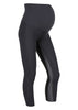 black pregnancy leggings 7/8 length made from recycled luxury Italian lycra