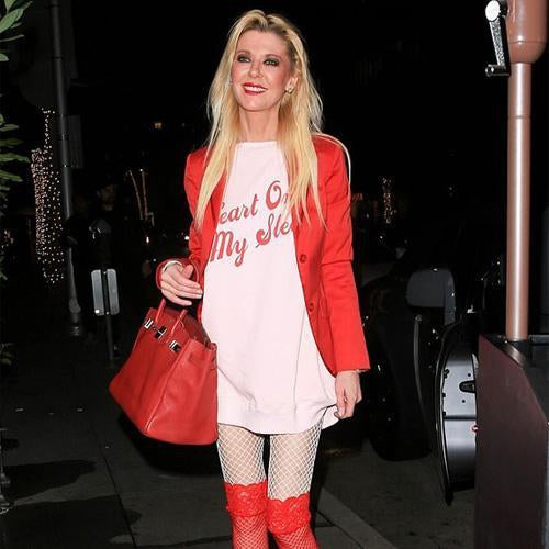 Tara Reid wears her Heart on her Sleeve with Wildfox-Spoiled Brat