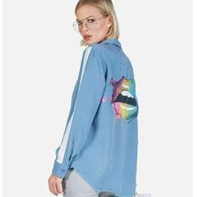 shop womens denim shirts online