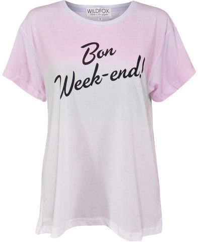 Wildfox Bon Weekend Manchester Tee