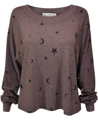 Wildfox Planetarium Monte Crop Sweater as seen on Una Healy