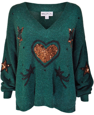 Wildfox Star Love Clemente Sweater