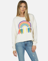 Lauren Moshi Lee Dream Rainbow Sweater as seen on Alessandra Ambrosio