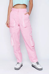 The Ragged Priest Coney Combat Trousers in Pink