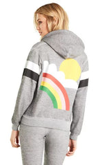 Wildfox Rain or Shine Regan Zip Hoodie
