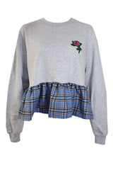 TALLULAHS THREADS MALLORY RUFFLE TARTAN SWEATER  £45.00 GBP