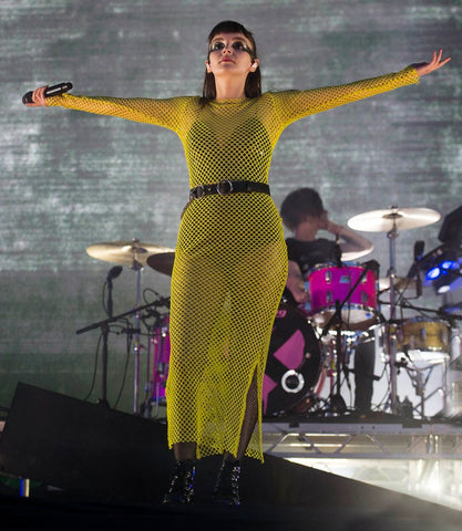 Lauren Mayberry wears New Girl Order Maxi Dress