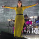 Lauren Mayberry CHVRCHES wears New Girl Order Maxi Dress
