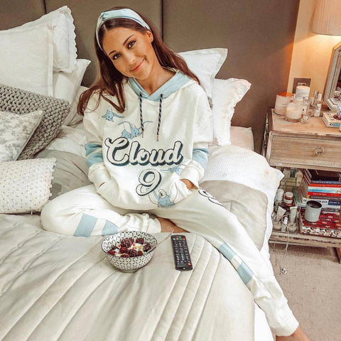 Louise Thompson wears Never Say Never Dumbo Tracksuit