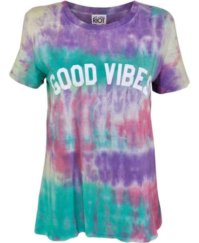 Sub Urban Riot Good Vibes Loose Tee as seen on Karli Kloss & Anna Friel