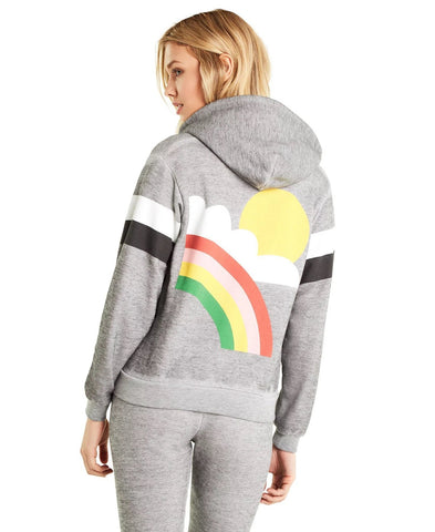 Wildfox Rain or Shine Regan Zip Hoodie as seen on Amber Rose £164.99 GBP
