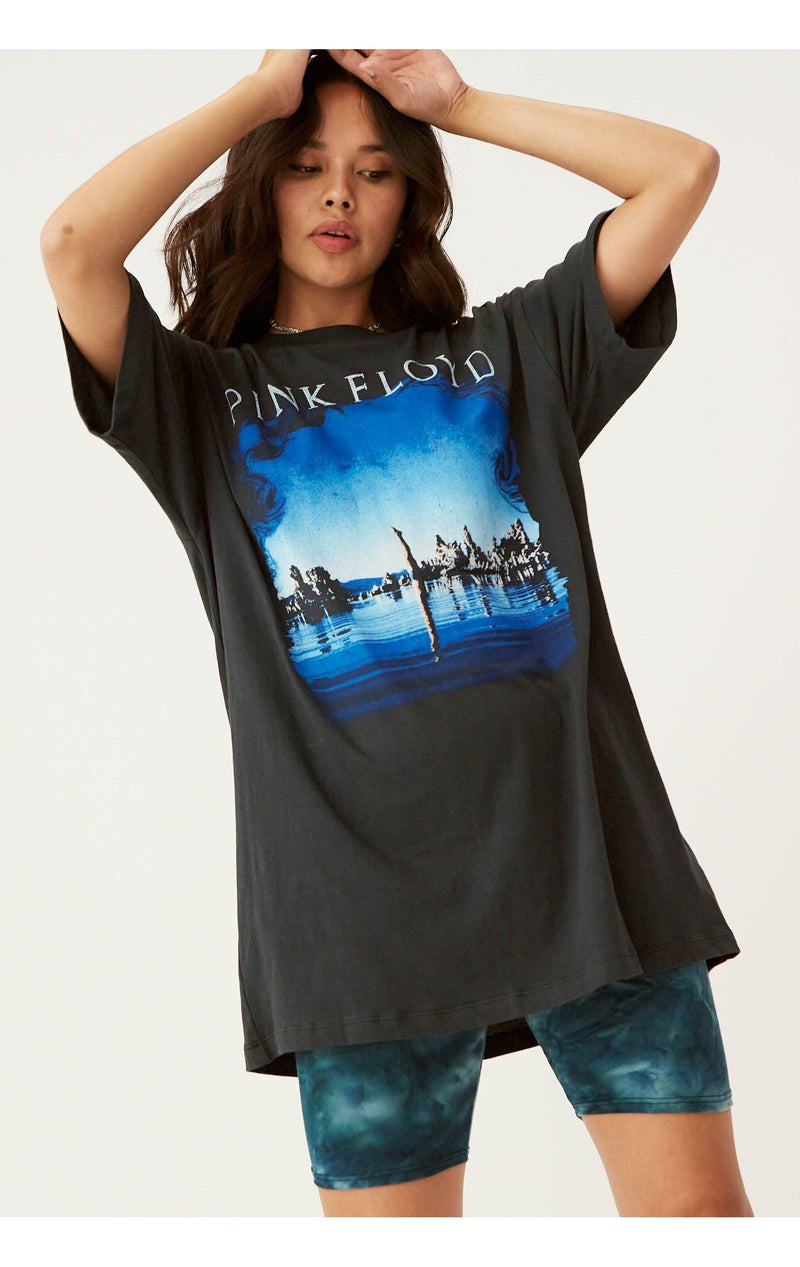 Daydreamer LA Pink Floyd Wish You Were Here Oversized T-Shirt Dress