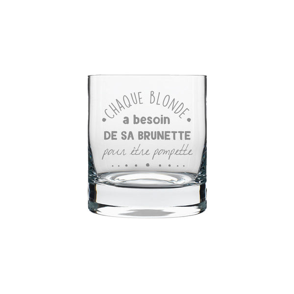 Verre de whisky ''Blonde et Brunette''