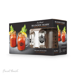 Verres pot mason Bloody Mary