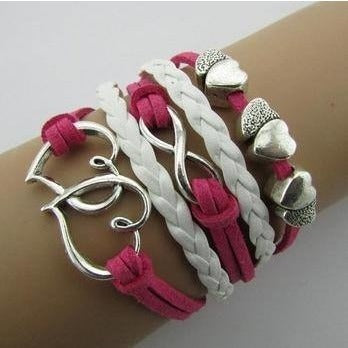 Bracelets - Double Hearts Fashion Multilayer Bracelet