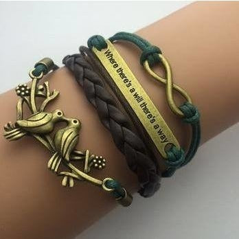 Bracelets - Love Birds Fashion Multilayer Bracelet