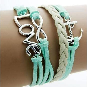 Bracelets - Turquoise Love Fashion Multilayer Bracelet