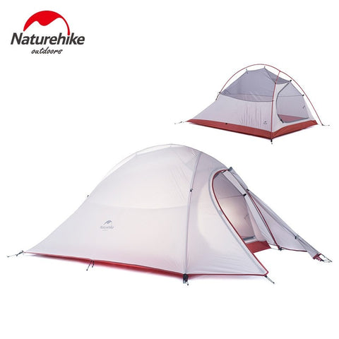 Camping - 2 Person Tent 20D Silicone Fabric Tent Double-layer Camping Tent Lightweight Tent