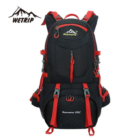 Camping - Outdoor  Backpack Sports Bag Hiking Cycling Bag Climbing 50L Lightweight Waterproof  Travel Backpack Big Load  Knapsack Rucksack