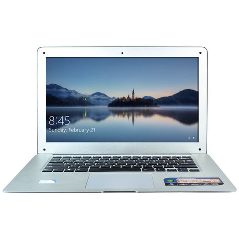 Sunday Gold - 14 Inch Laptop Computer with Celeron J1900 Quad Core CPU 8GB RAM & 128GB SSD & 500GB HDD WIFI Windows 10 Notebook