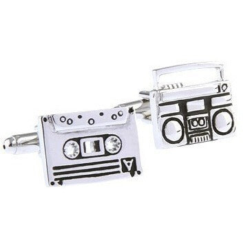 Sunday Gold - Boombox and Tape Cufflinks