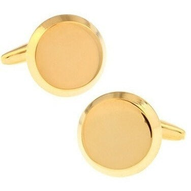 Sunday Gold - Gold Circle Cufflinks