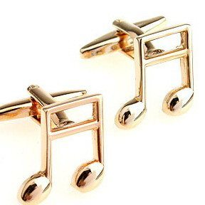 Sunday Gold - Gold Notes Cufflinks