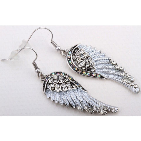 Sunday Gold - Angel Wings Drop Earrings