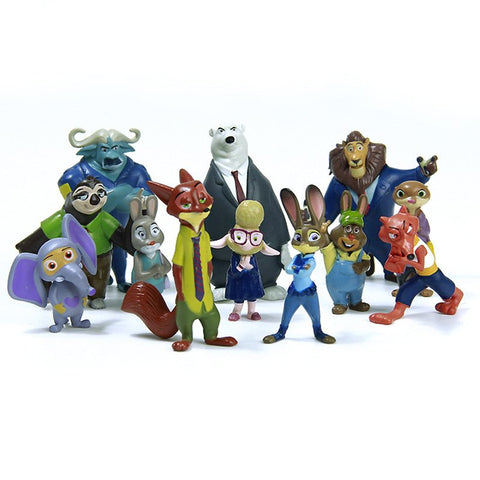 Figures - 12 Styles Zootopia Figure Toys Rabbit Judy Hopps Fox Nick Wilde Sloth Flash Movie Zootropolis Zootopia Figure Toy Gift