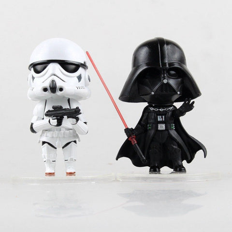 Figures - Star Wars Action Figure Toy Darth Vader Storm Trooper PVC Model Action Figure Black Worrior Clone Trooper Toy Ages 14+