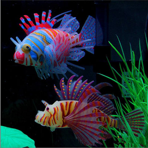 Fish - Glow In Dark Lionfish Fish Tank Decoration