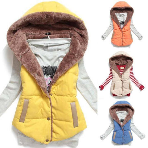 Jackets - Coloured Hooded Vest